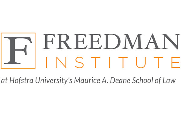 Freedman Institute at Hofstra University's Maurice A. Deane School of Law Logo