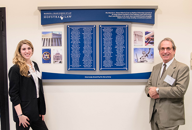 Hofstra Law Honors Alumni Members of the Judiciary With Judges Wall