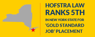 Hofstra Law Ranks 5th in New York State for 'Gold Standard Job' Placement