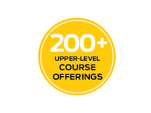 200+ Upper Level Course Offerings