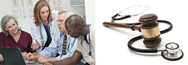 photo of doctors consulting with a patient