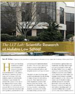 The LLT Lab: Scientific Research at Hofstra Law School